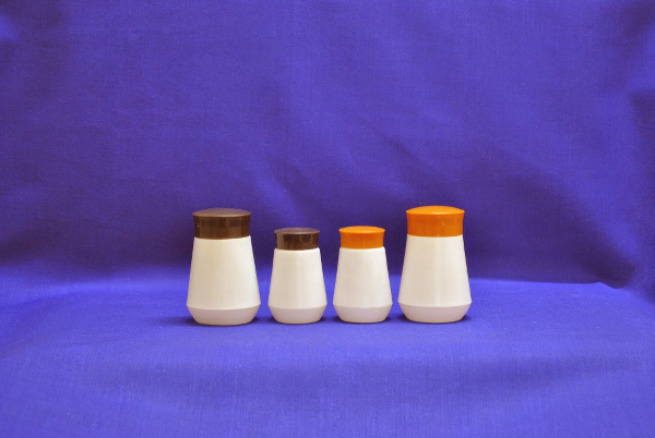 Custom Made Conical Shape Hing Bottles<